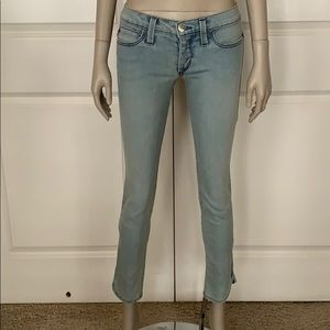 SAMPLE! Dittos Low Rise Zip Ankle Skinny Jeans
